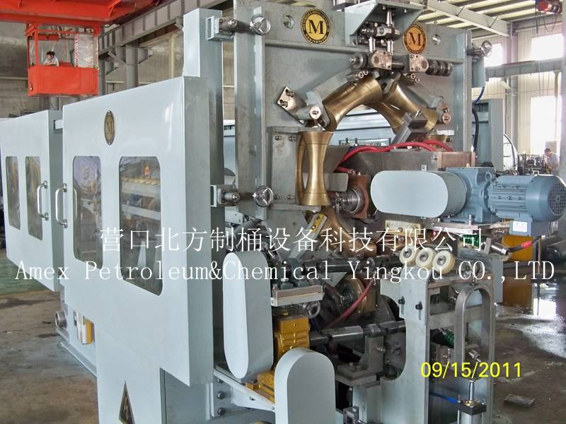 Automatic welder / seam welding machine for steel barrel production line 210L