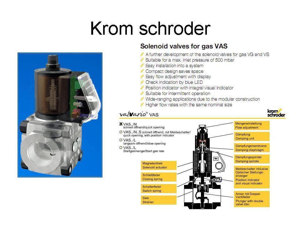 Krom schroder solenoid valve