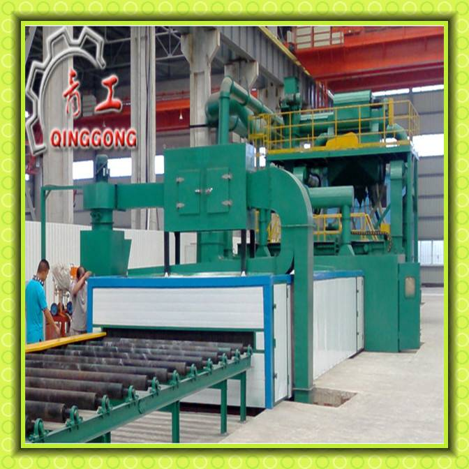 Steel Sheet Roller Conveyor Rust Remover Shot Blasting Machine