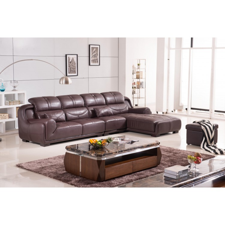 High quality sectional leather sofa elegant and simple leather sofa 0411-AL341 H