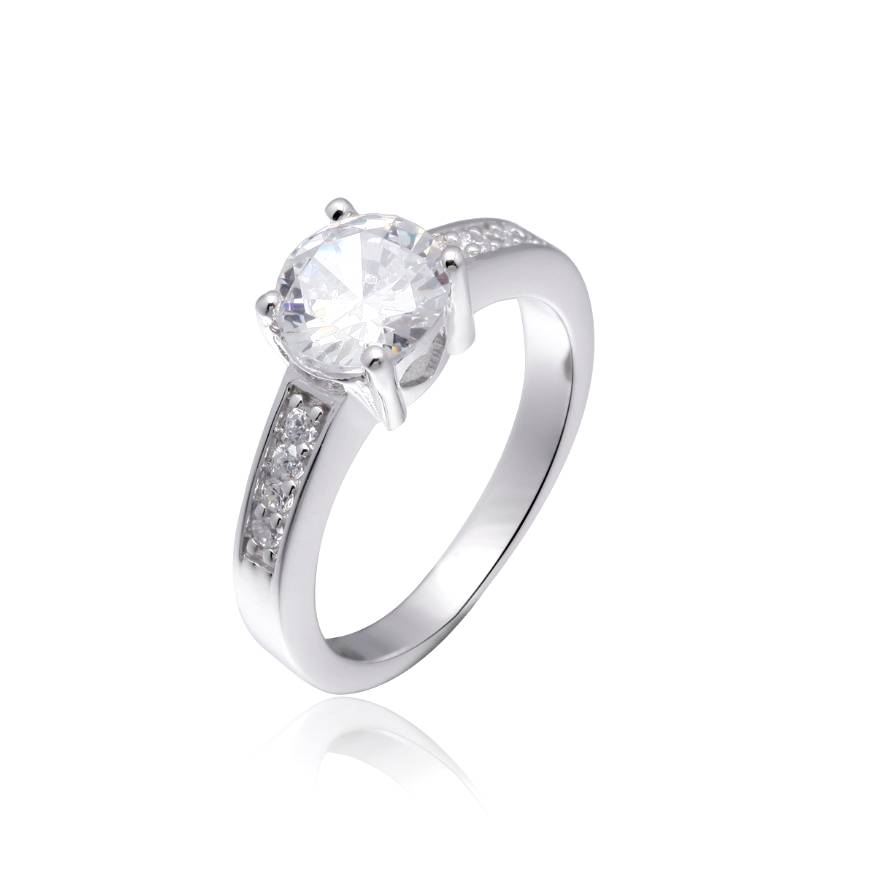 Sterling Silver Bridal Solitaire Ring, Wedding Jewelry Wholesale