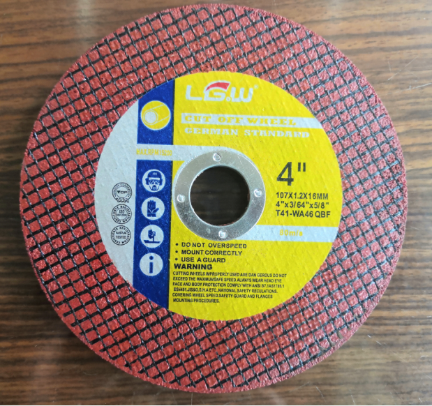 4Inch 107X1.0X16MM Red Color Double Net Super Thin Cut off wheel