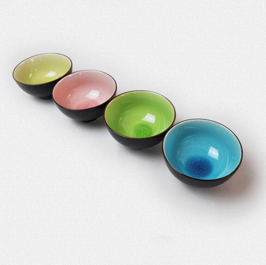 Colorful Ice Crackle Bowl