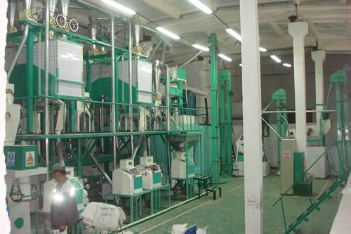 40T-60T 6FTP series of semi-elevated structure wheat flour complete equipment