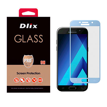 Dlix 2.5D Silk-printed Full Cover Tempered glass Screen Protector for Samsung A7 2017