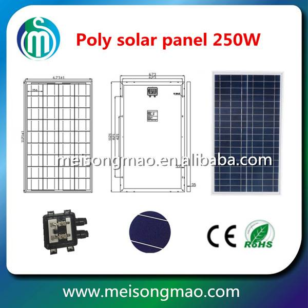 Factory Direct Sale Cheap Price Durable 250W 30V Poly Module Solar Panel Poly crystalline