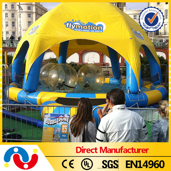 Customized PVC tarpaulin inflatable pool dome/inflatable tent for swimming pool
