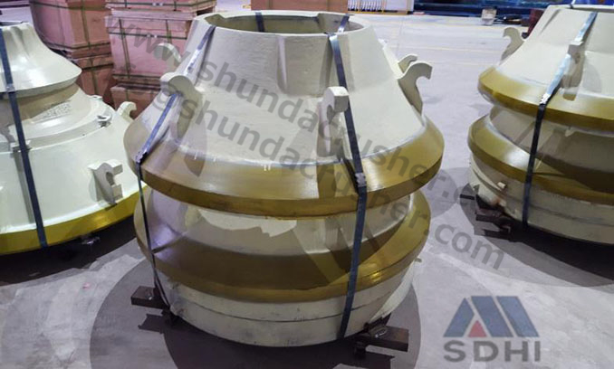 Sandvik S series cone crusher standard mantle/concave ring manufacture