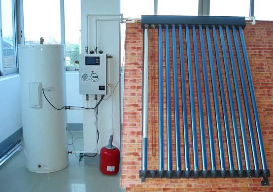 pressure split solar energy heater
