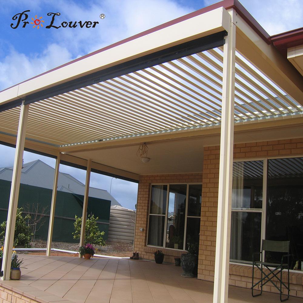 External rain proof,aluminum roof louver,pergola opening roof