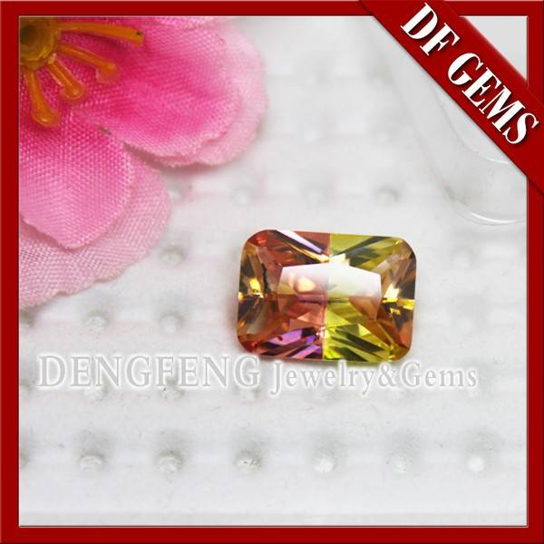 Diamond Cut Multi-color Synthetic Glass Gems