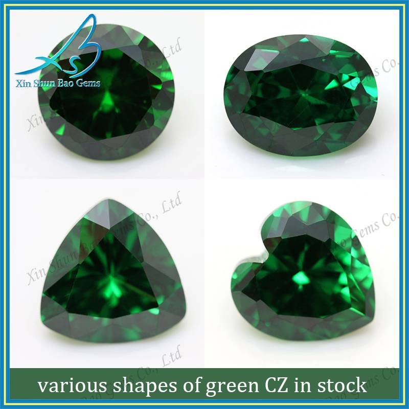 High quality lab created emeralds, synthetic emerald, emrald CZ