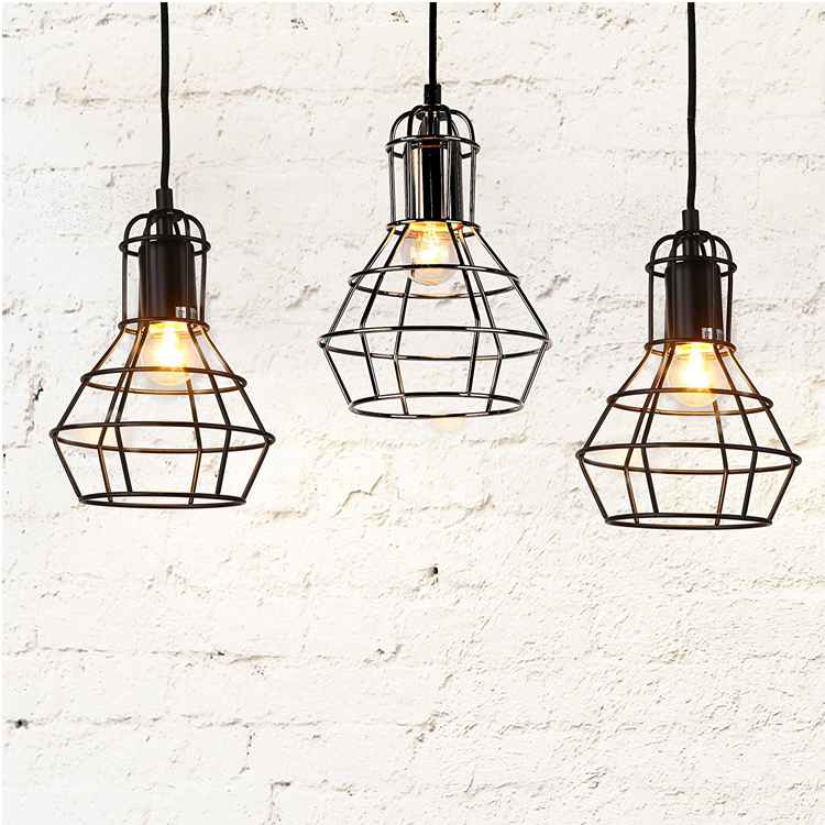 Hanging pendant lamps celling lighting metal shade E26 copper finish