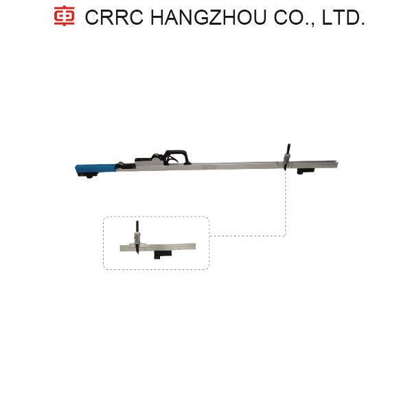 Rail deviation measurement scale CRRC
