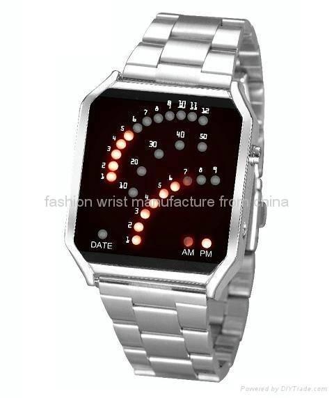 Fan-like Display LED Watch LW805