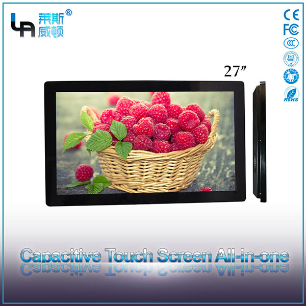 LASVD 27 Screen size multi function wall mount capacitive touchscreen query all in one pc