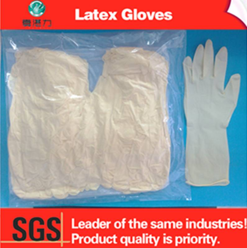 Chloridize Latex Examination Gloves used by electronics industry