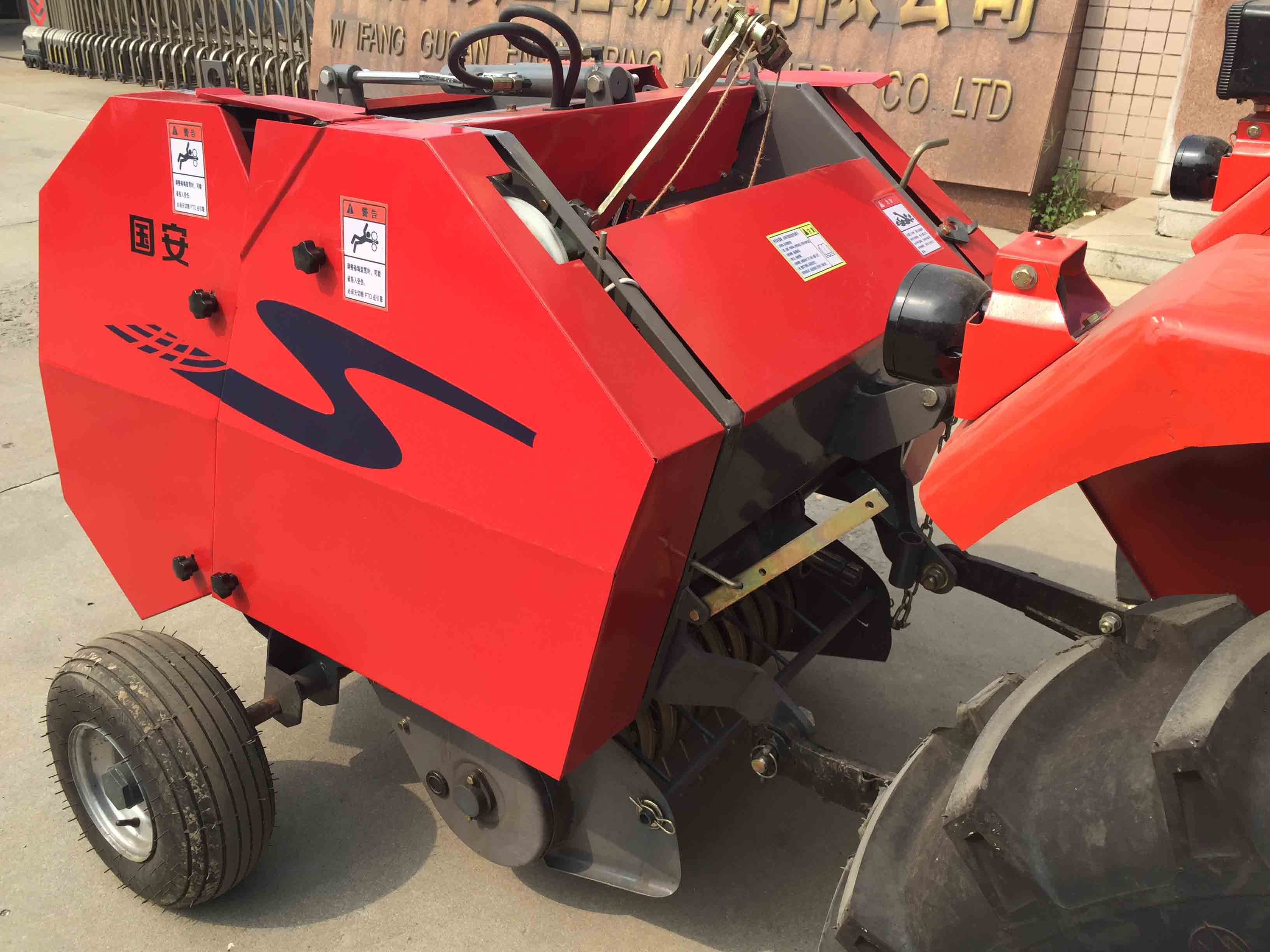 25-50hp Tractor mounted small round hay baler