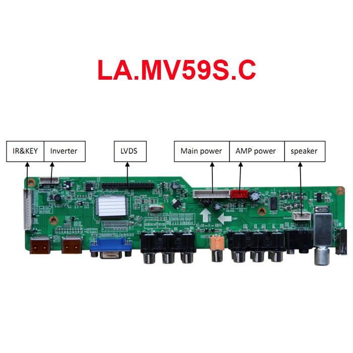 LA.MV59S.C TV Board with VGA/HDMI/AV/YPbPr/USB/Audio/TV Model: LA.MV59S.C Input: VGA/HDMI/AV/YPbPr/U