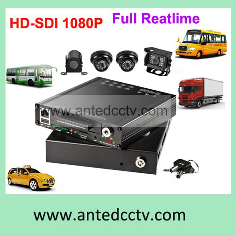 4 Channel Mobile DVR System, 4ch HDD DVR, WIFI/GPS optional