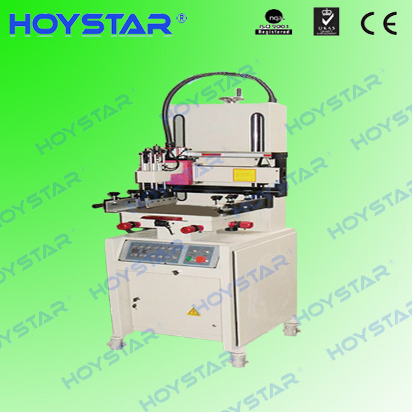 flatbed screen printing machine for paper/glass/card