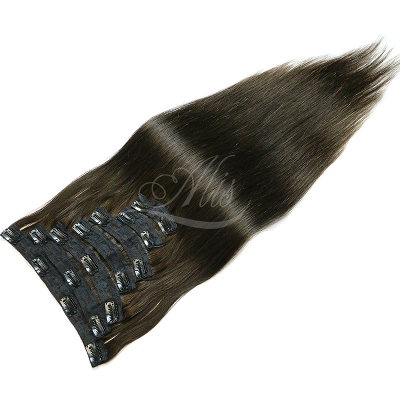 Clip In Human Hair Extensions Natural Color 10 Pieces/Set 100% Brazilia Remy Hair Full Head Sets 140