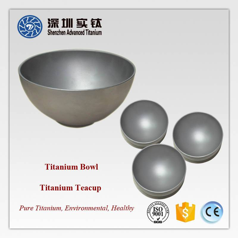 Exquisite Titanium Bowl and Stainless Steel Bowl