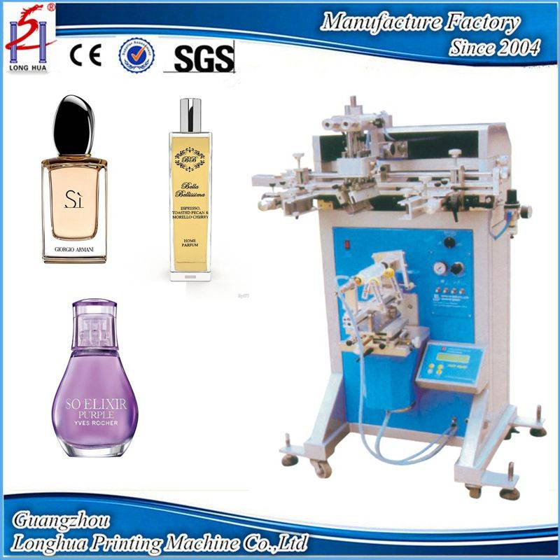 Screen printing machine for perfume cosmetic glass plastic bottle