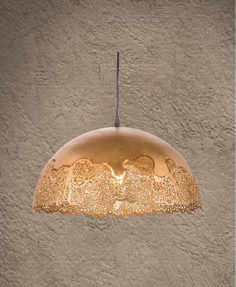 XV-18 corrosion pendant light
