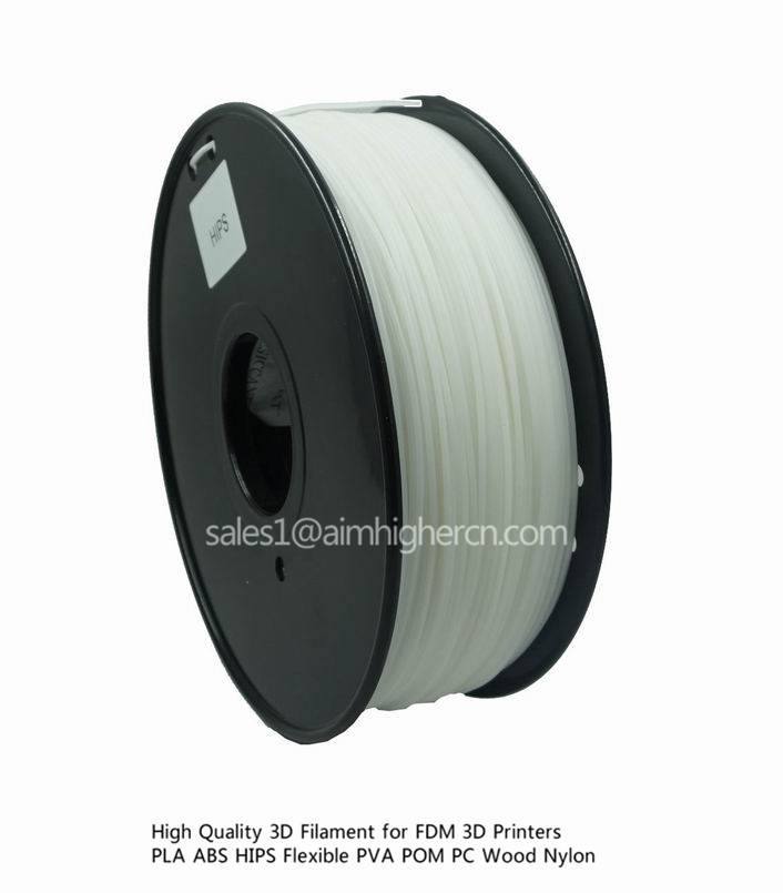 hotsale HIPS 3d filament White color 1.75/3.0mm
