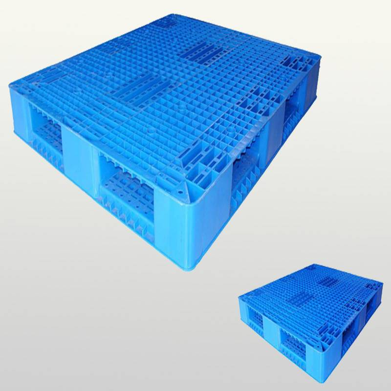 plastic pallet with double-faced.Grid.Stackable.1200*1200*150
