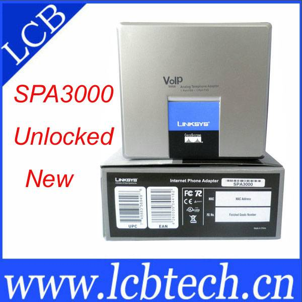 new Linksys SPA3000 VOIP phone adapter