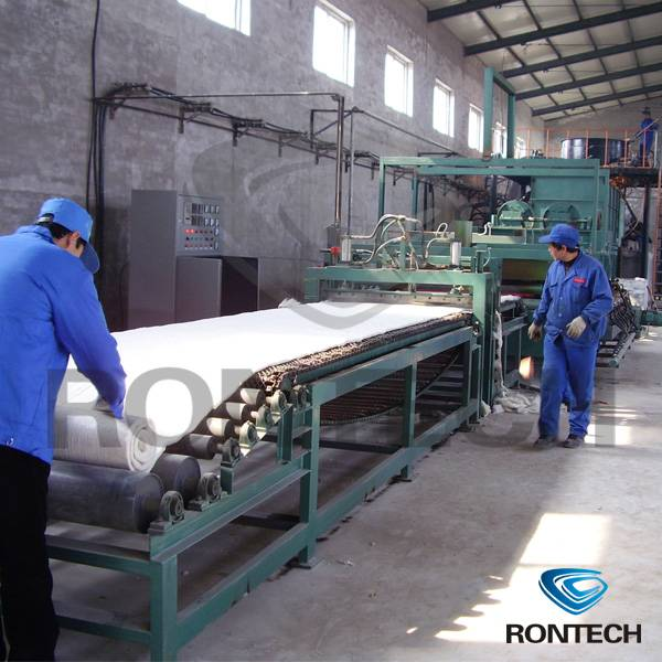 Ceramic fiber production line