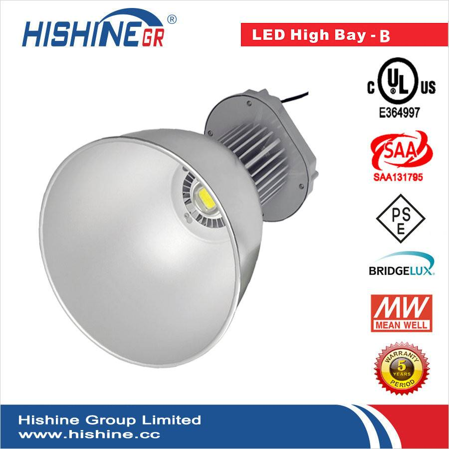 100w UL SAA LED High bay light with meanwell and bridgelux