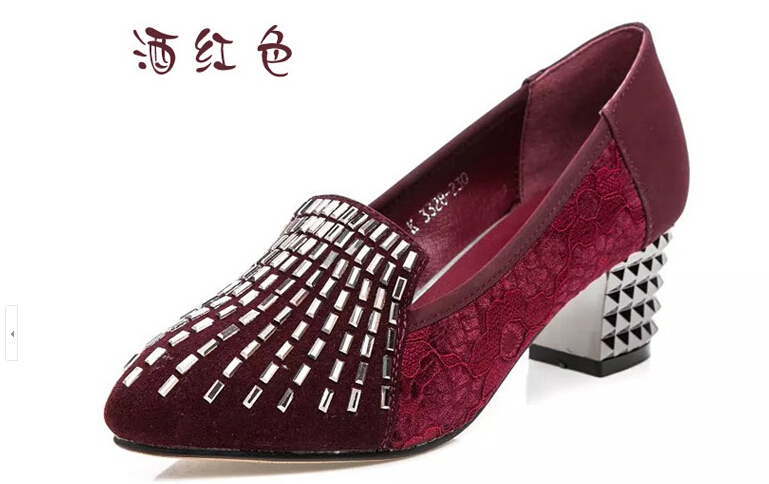 han edition fashion designer shoes lace diamond heels comfortable big yards for women's shoes 3