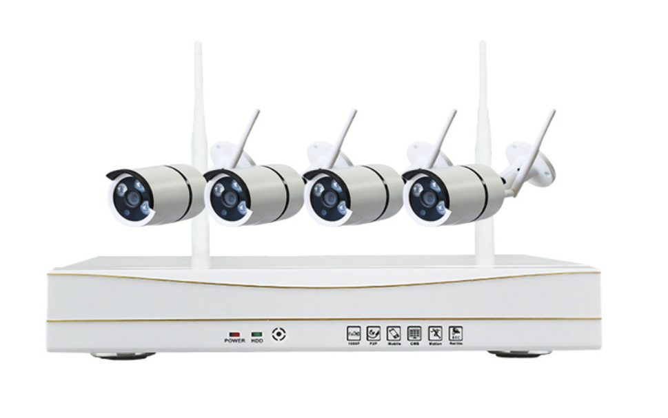 1080P HD 4channels Plug And Play Wireless NVR Kit CCTV System WIFI IP Camera kit Outdoor IR50M