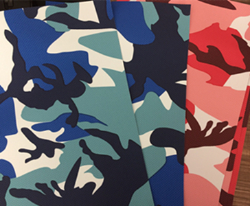 Camouflage pvc fabric custom specifications