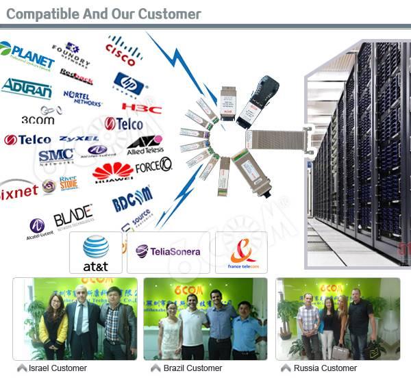 Extreme Compatible SFP,GBIC,XFP,XENPAK,X2,SFP+155m 1550 1310nm 40km sfp transceiver