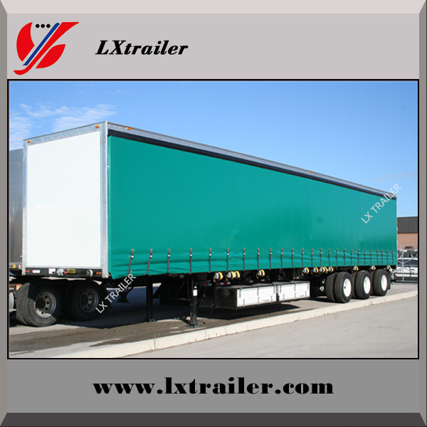 Manufacturer direct tri-axle 45ft van curtainside semi trailer