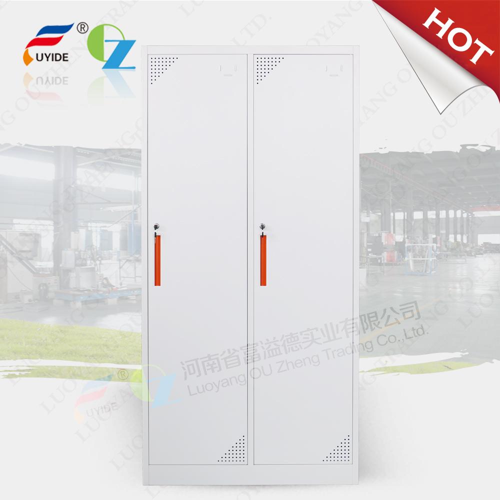 2 doors KD Steel combination locker/employee loceker/Luggage Locker/Military Metal Locker