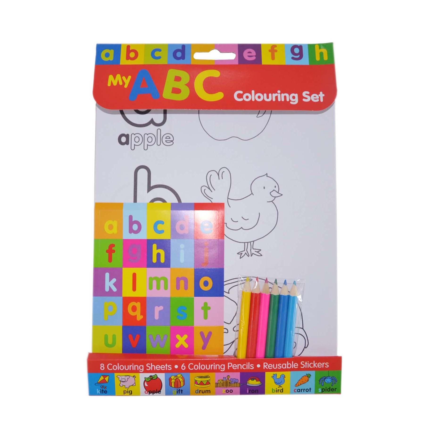 Letters Colouring Set Wtih Pencils