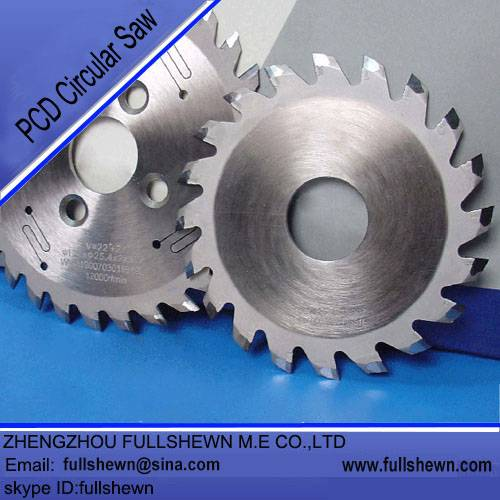 PCD circular saw blade for woodworking
