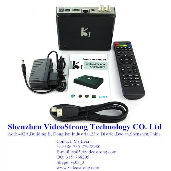 KI Amlogic S805 Quad core OTT DVB S2 Hybrid TV box