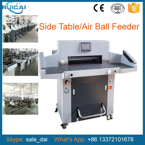 520mm Touch Screen Paper Cutter Machine with Extensive Front Table