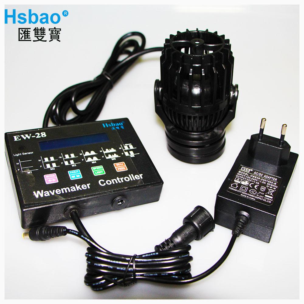 Hsbao Controllable DC Aquarium Wave Maker Pump EW Series 4000L/H to 13000L/H