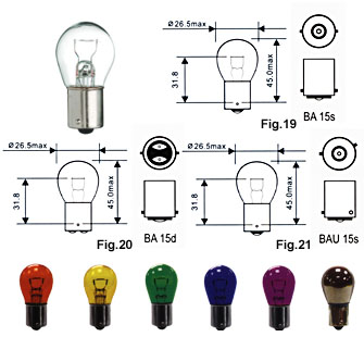 Auto Bulb 1156 S25 Ba15D P21W Py21W P21/4W Turn Light Stop Light