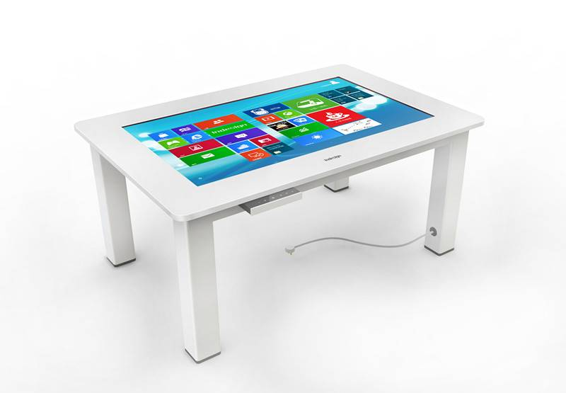 Wooden White Multi Touch Table