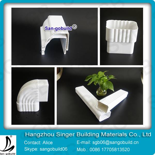 Supply k-style PVC rain Gutters ,PVC Downspout,PVC gutter fittings