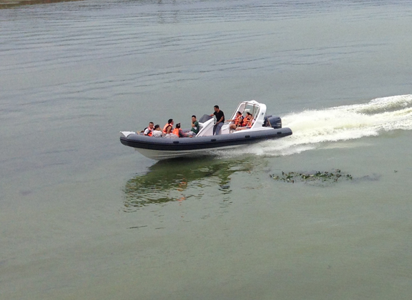 7.6m rib boat with hypalon pontoon with CE certificate for sale