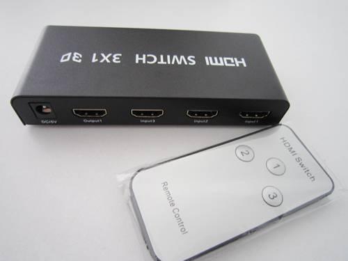 3 Ports HDMI Switcher Selector Hub 3x1 + IR Remote